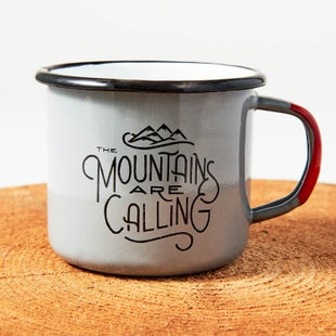 United by Blue Mountains Are Calling Enamel Steel Cup - Grey
