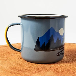 United by Blue 22 oz Twilight and Goodnight Enamel Steel Cup - Grey