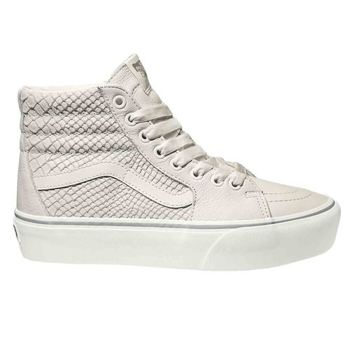 Vans SK8 Hi Platform 2.0 Leather Shoes - Snake White