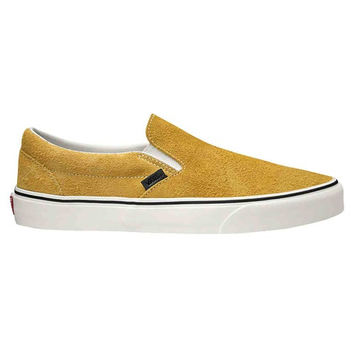 Vans Authentic Classic Hairy Suede Slip On Shoes - Sunflower Snow White
