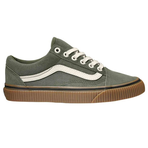 Vans Old Skool Suede Shoes - Dusty Olive Embossed Gum