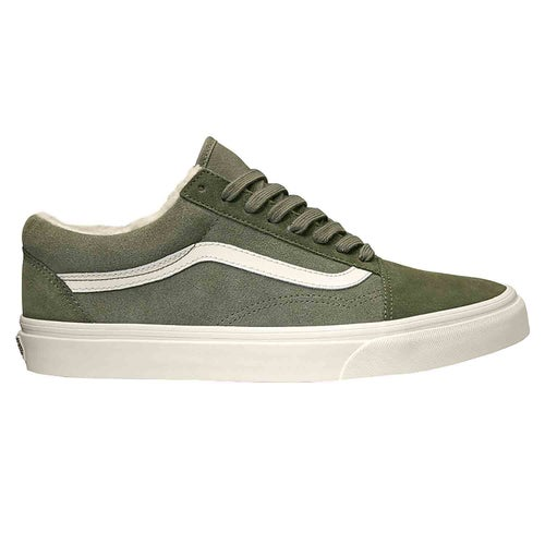 Vans Old Skool Suede Sherpa Shoes - Grape Leaf Dusty Olive