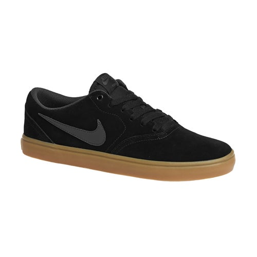 Nike SB Check Solarsoft Shoes - Black Anthracite Gum Dark Brown