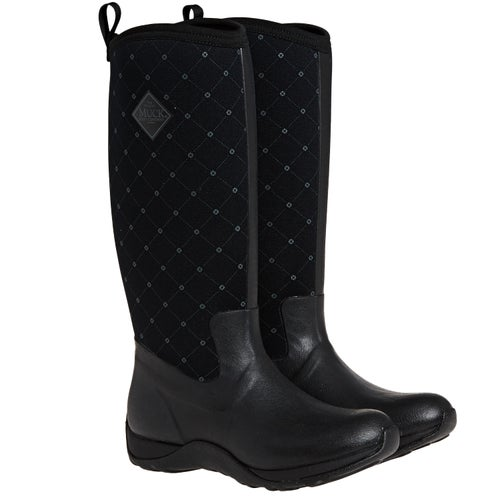 Muck Boots Arctic Adventure Prints (quilted Print) Wellies - Black / Castlerock Print