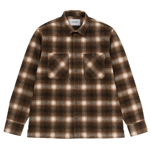 Carhartt Halleck Shirt - Halleck Check, Tobacco
