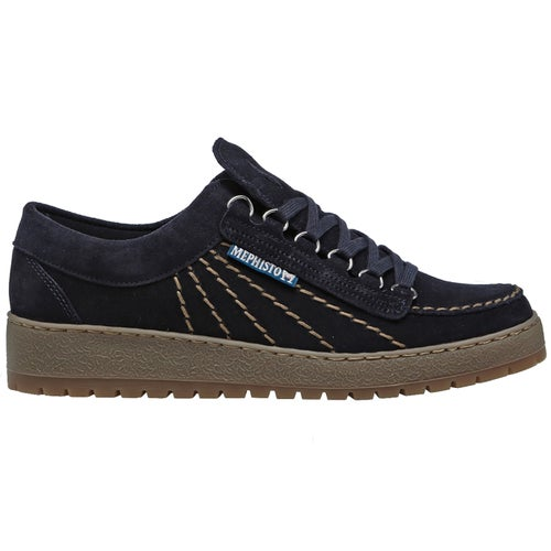 Mephisto Rainbow Velours Shoes - Blue
