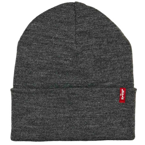 Levis Slouchy Red Tab Beanie - Grey