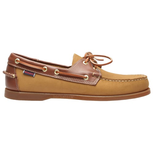 Sebago Spinnaker Shoes - Brown Tan Dark Brown Gum