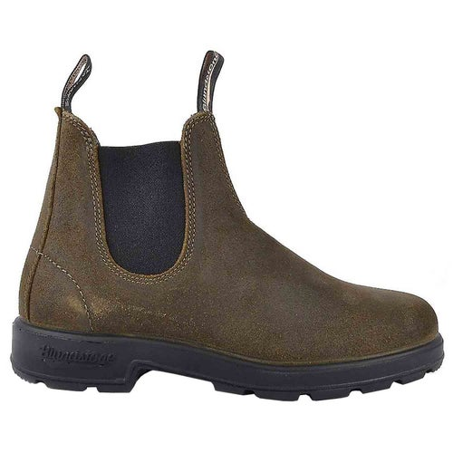 Blundstone Classic Series Suede Chelsea Boots - Dark Olive