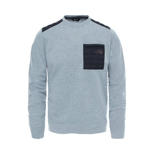 North Face Mountain Slacker Thermoball Crew Sweater - TNF Medium Grey Heather
