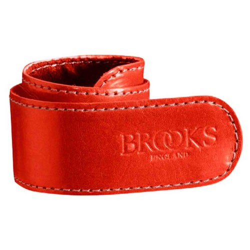 Brooks England Trouser Straps Leather Belt - Red