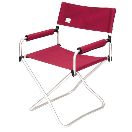 Snow Peak Gray Folding Chair Camping Chair - Red