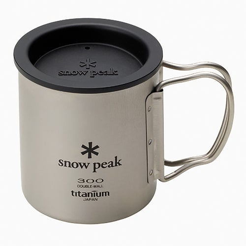 Snow Peak Insulation Lid, For 330 Mug Camping Accessory - Black