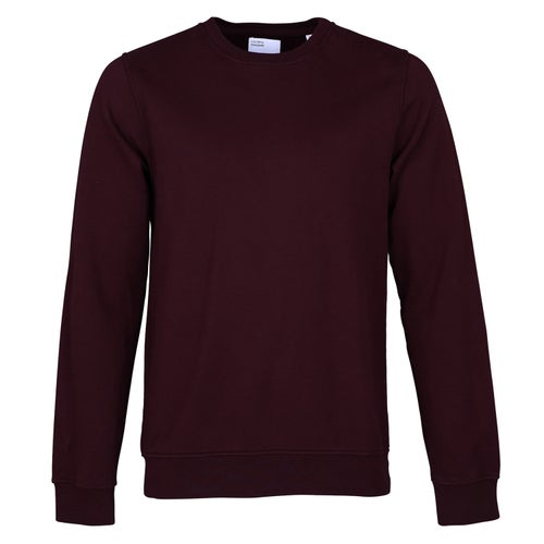 Colorful Standard Classic Organic Crew Sweater - Oxblood Red