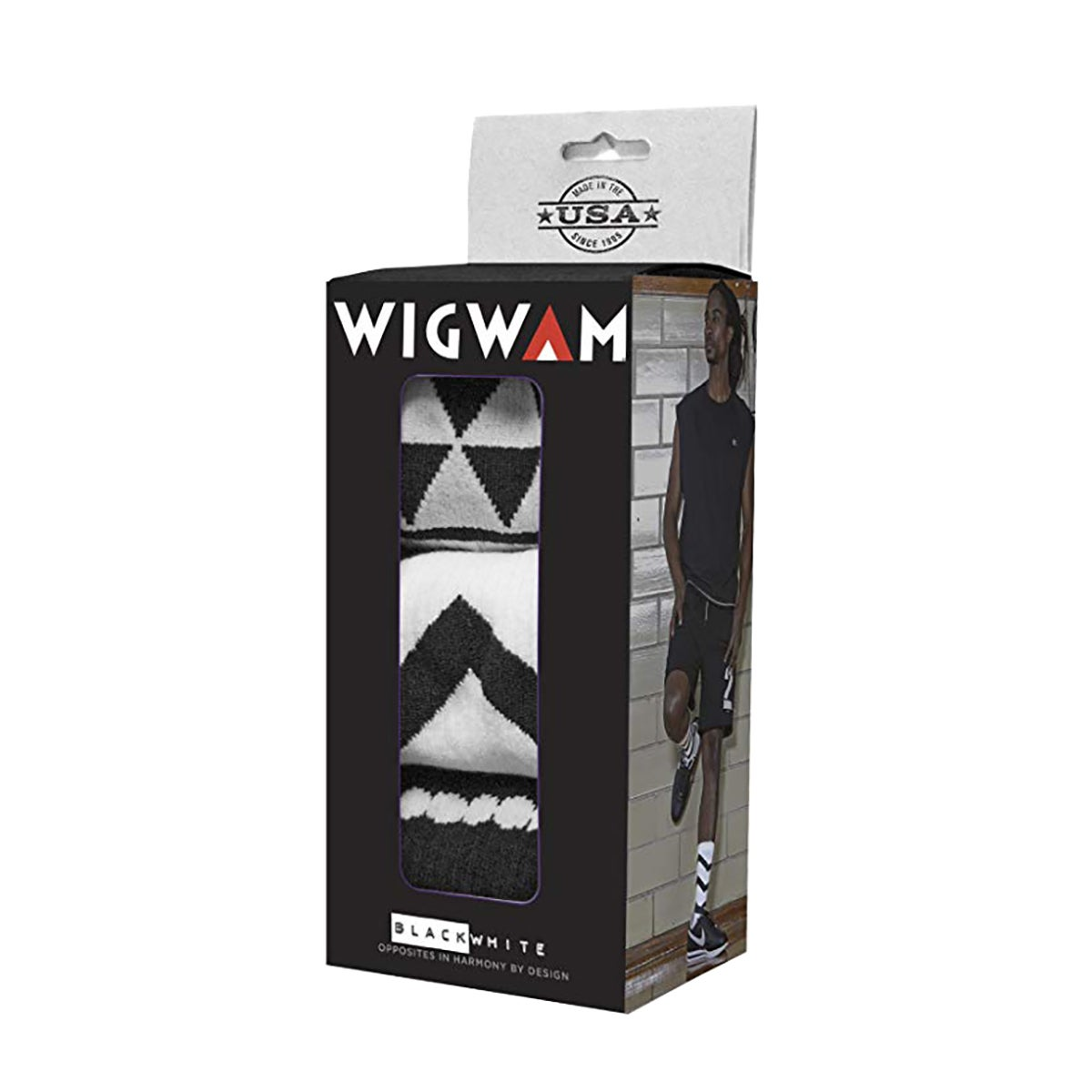 Wigwam Black and White Collection Holiday Gift Box Wandelsokken