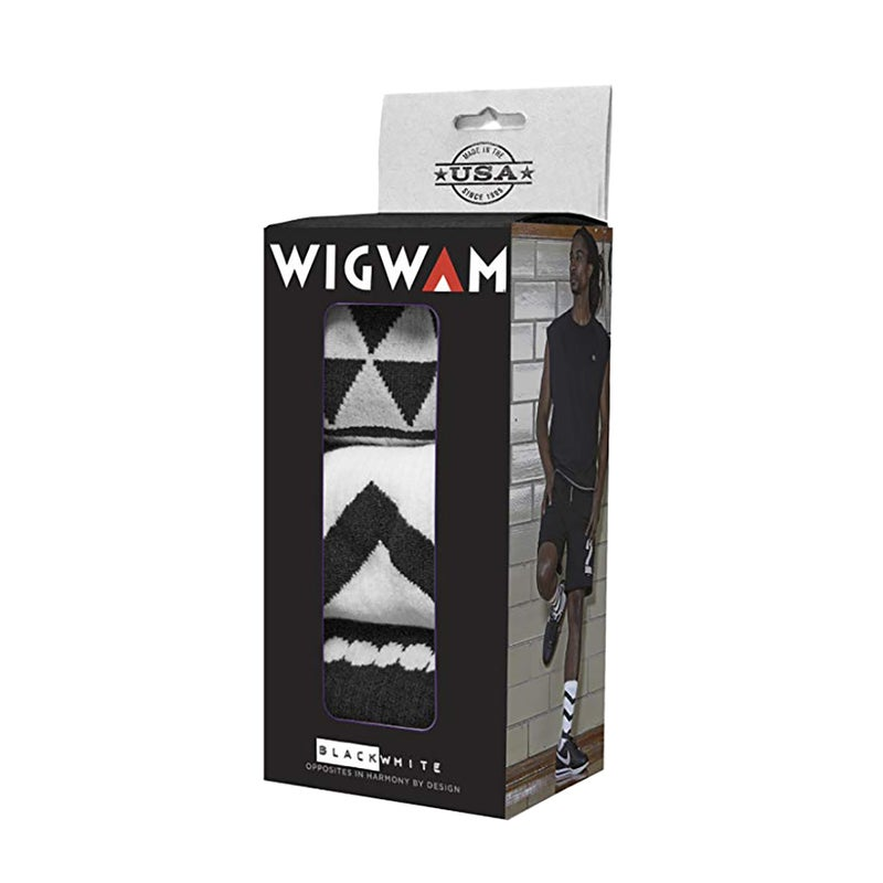 Meias para Andar Wigwam Black and White Collection Holiday Gift Box