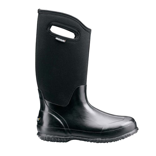 Bogs Classic High Handles Ladies Wellies - Black Shiny