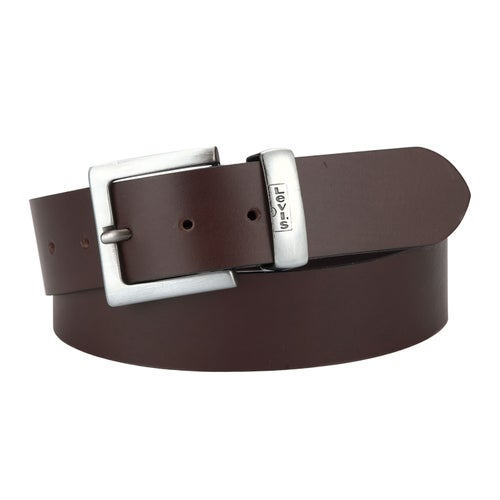 Levis Albert Leather Belt - Dark Brown