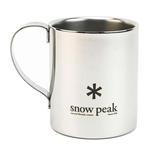Snow Peak Stainless Double 330 Mug Cup - Grey