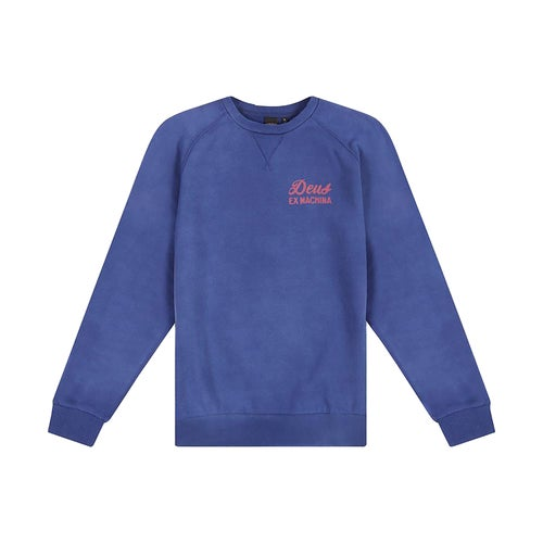 Deus Ex Machina Sunbleach Postmodern Crew Sweater - Estate Blue