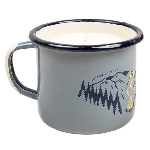 United by Blue Road Trip Enamel Mug Candle - Grey