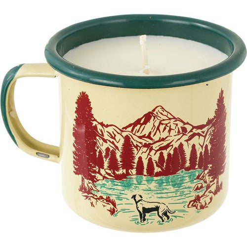 United by Blue Off Leash Enamel Mug Candle - Ivory