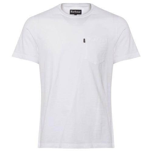 Barbour Essential Pocket T Shirt - White
