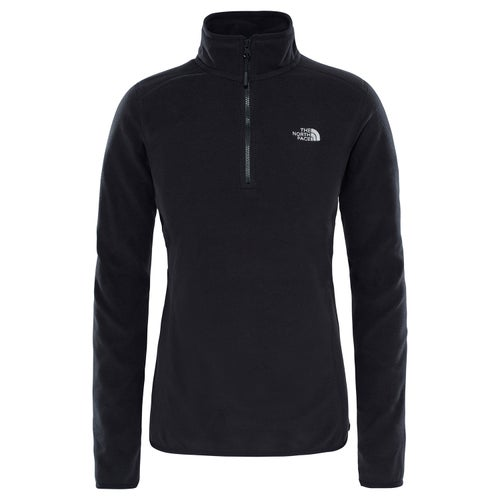 North Face 100 Glacier Quarter Zip Ladies Fleece - TNF Black