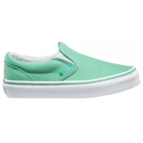 Vans Authentic Classic Slip On Shoes - Neptune Green True White