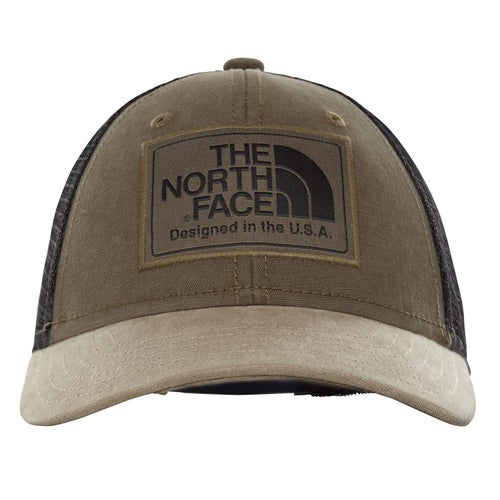 North Face Y Mudder Trucker Cap - New Taupe Green TNF Black