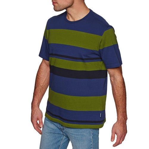 Barbour Longitude Strip T Shirt - Inky Blue
