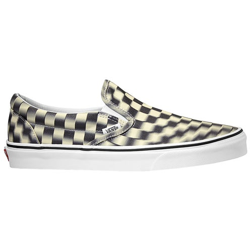 Vans Authentic Classic Checkerboard Slip On Shoes - Black Classic White