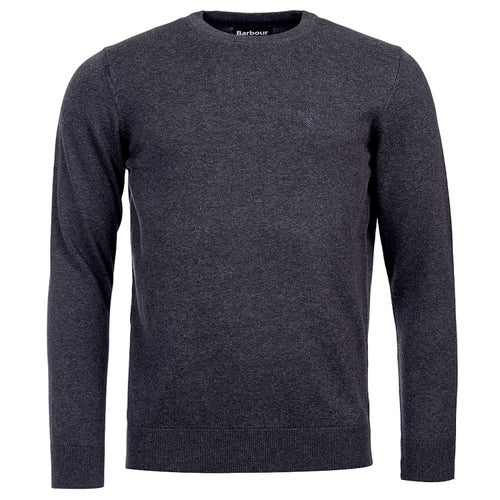 Barbour Pima Cotn Crew Charcoa Knits - Charcoal