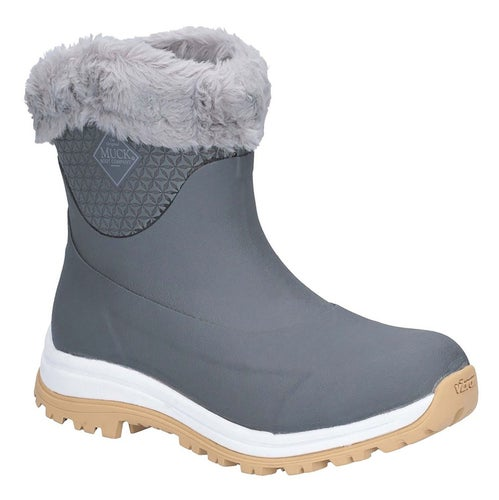 Muck Boots Apres Slip On Ag Ladies Wellies - Gray