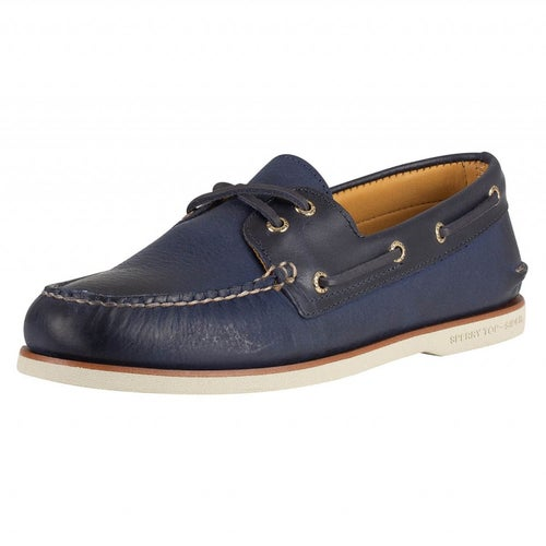 Sperry Gold A/o 2-eye Titan Slip On Shoes - Navy
