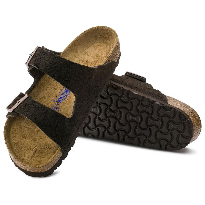 Birkenstock Arizona Suede Soft Footbed Sandály