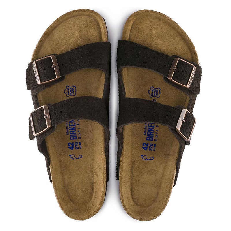 Birkenstock Arizona Suede Soft Footbed Sandaler