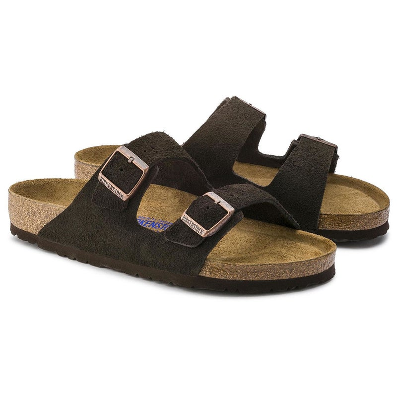 Birkenstock Arizona Suede Soft Footbed Sandalen