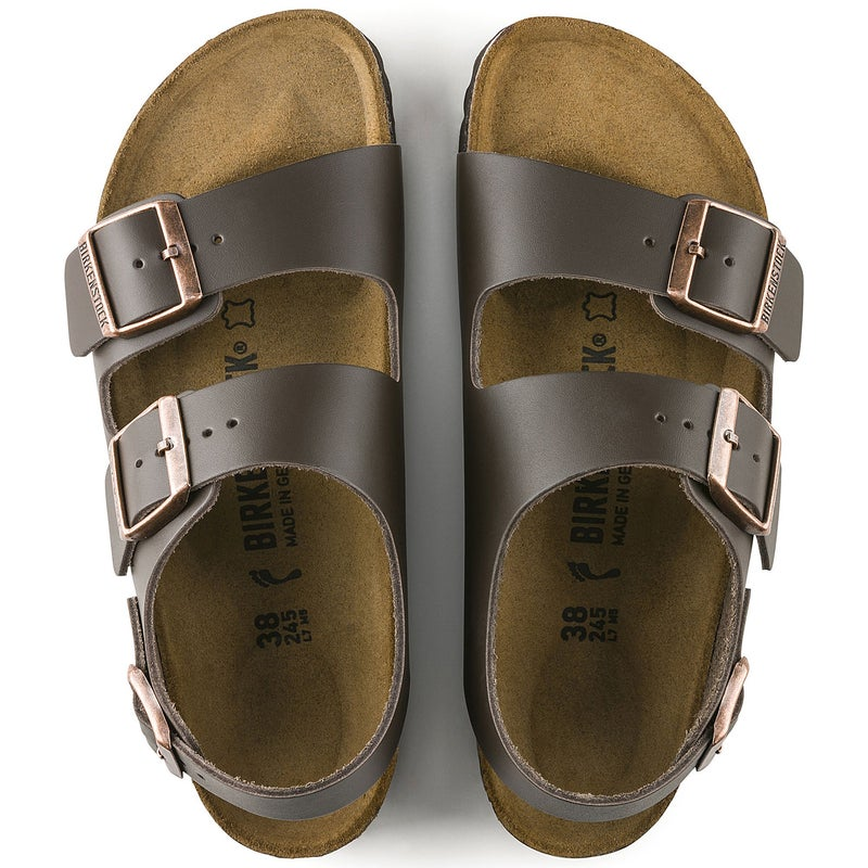 Birkenstock Milano Natural Leather Sandalen
