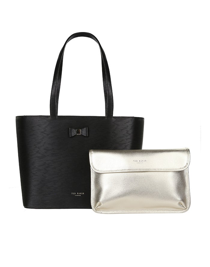 43671d3ab2 Ted Baker Deanie Bow Detail Small Leather Women's Shopper Bag ...