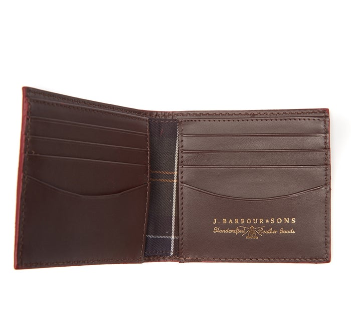 Barbour Grain Leather Billfold Men's Wallet