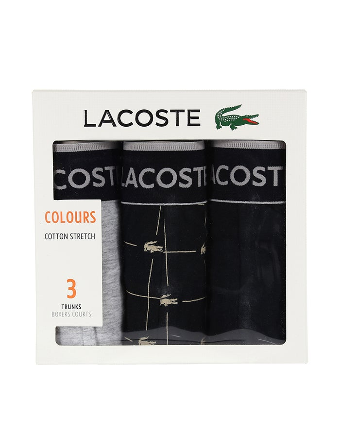 Lacoste 3 Pack Colours Cotton Stretch Trunks Herre Brief