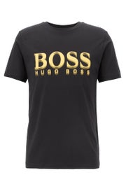 BOSS Crew Neck Large Logo Print Short Sleeve T-Shirt