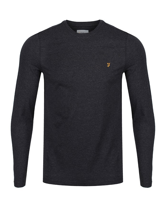 Farah Denny Slim Marl Long Sleeve T-Shirt