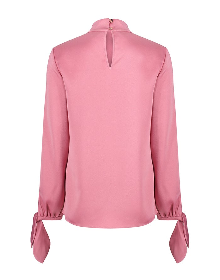 Ted Baker Belare High Neck Tie Sleeve Dame Top
