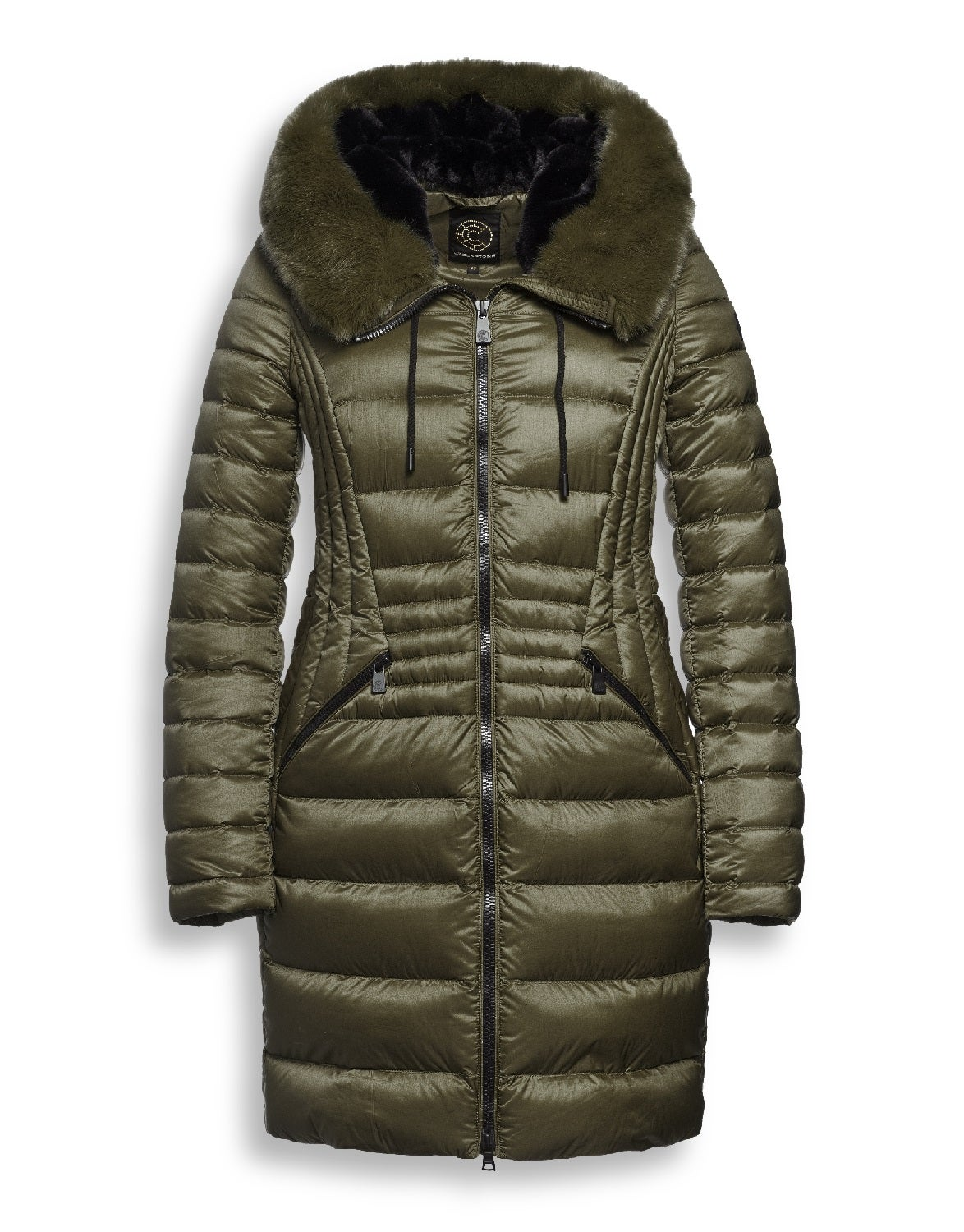 Creenstone Fitted With Faux Fur Collar Women's Down Jacket