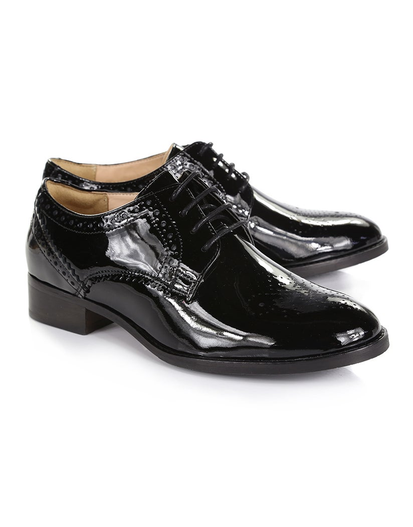 5711023f98ff7 Clarks Netley Rose Dress Shoes - Black Patent | Country Attire