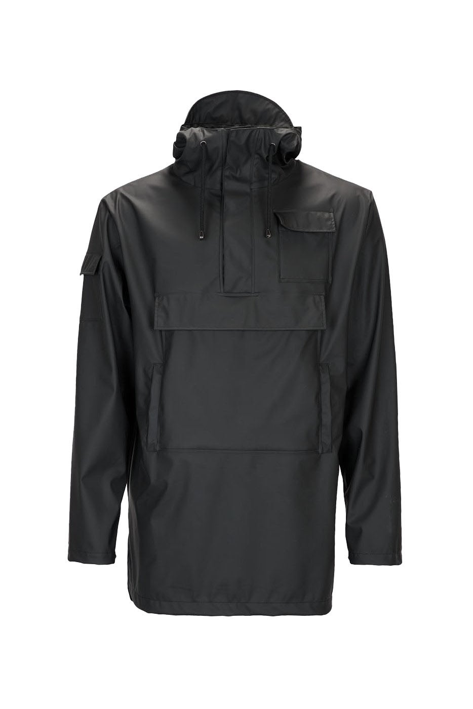 db11cb54f Rains Camp Anorak Jacket - Black | Country Attire