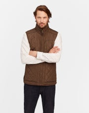 Joules Mens Halesworth Fleece Lined Quilted Thermoweste