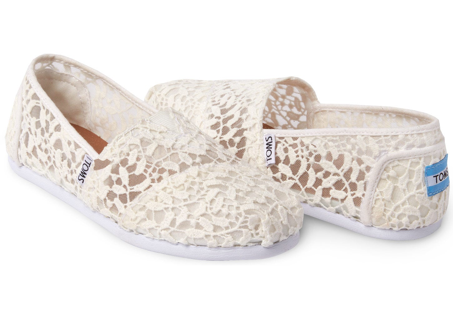 Toms Alpargata Lace Women's Slip On Shoes